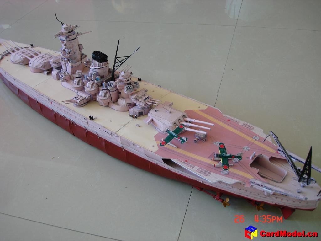 舰船模型制作完成