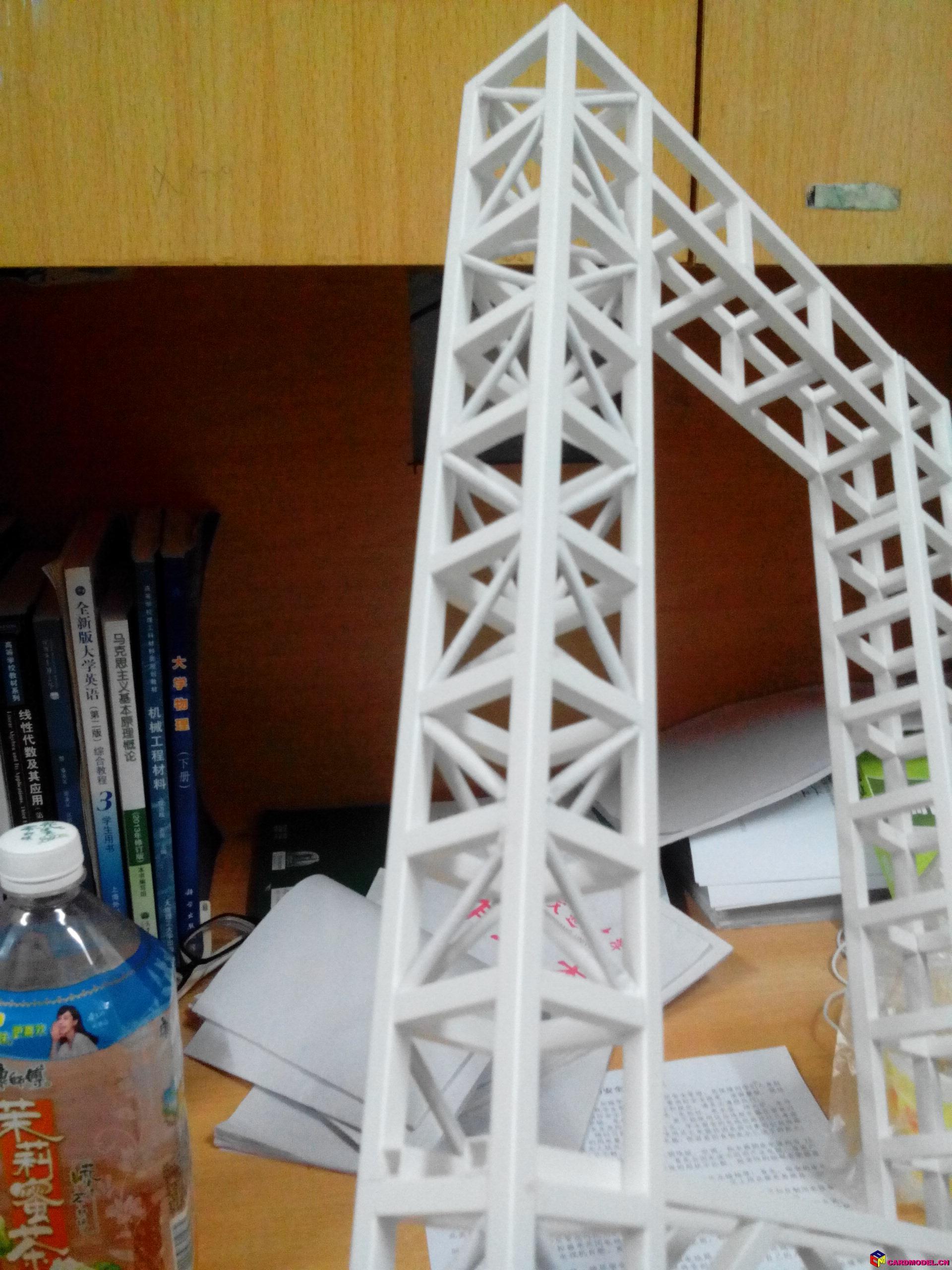 桥梁模型制作过程 - 民用模型制作完成区(finished)