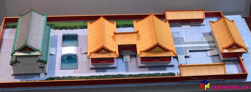 古建筑 纸模型