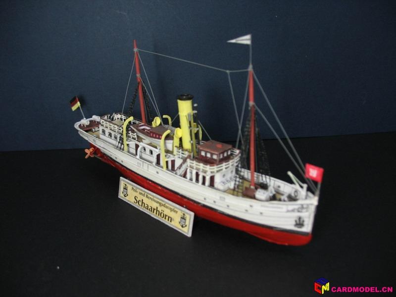 50 HMV 小船sharrhorn 1908 完成 舰船模型成品赏析图片